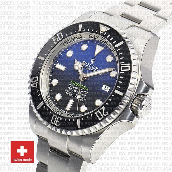 Rolex Sea-Dweller Deepsea D-Blue Blue-Black Dial 904L Steel 44mm