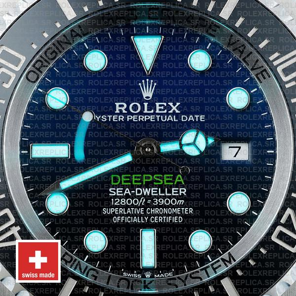 Rolex Sea-Dweller Deepsea D-Blue Blue-Black Dial 904L Steel 44mm Replica
