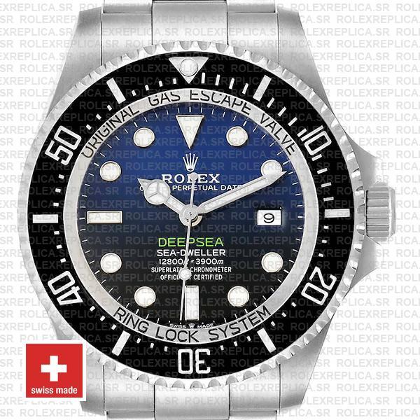 Rolex Sea-Dweller Deepsea D-Blue Blue-Black Dial 904L Steel 44mm Swiss Replica