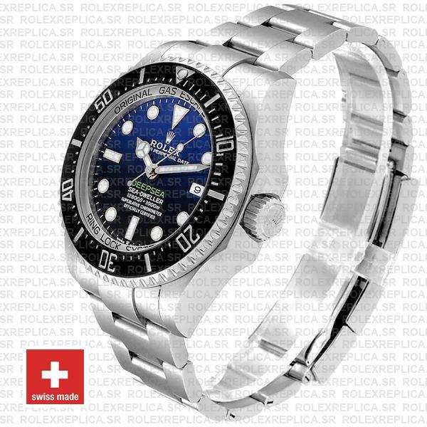 Rolex Sea-Dweller Deepsea D-Blue Blue-Black Dial 904L Steel 44mm Swiss Replica Watch