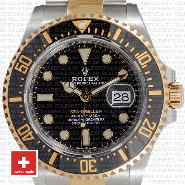 Rolex Sea-Dweller 904L Steel | Two-Tone Gold 43mm Swiss Replica Watch