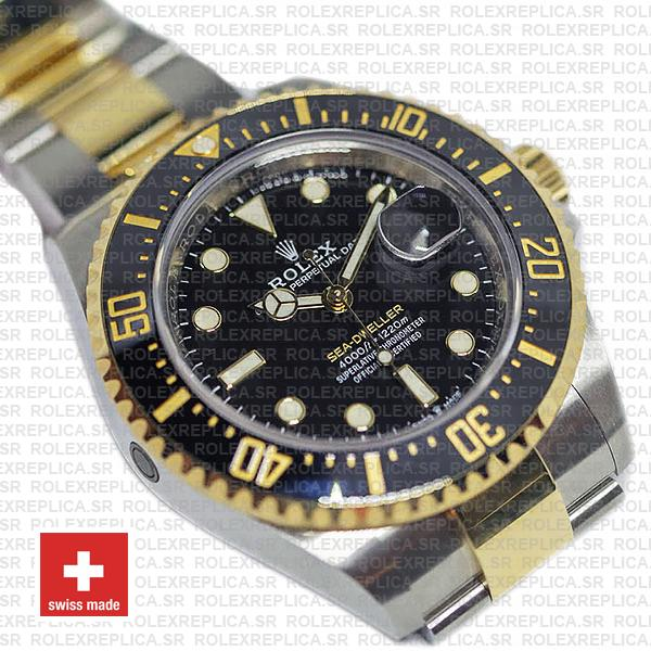 Rolex Sea-Dweller Deepsea Two Tone in 18k Yellow Gold 904L Stainless Steel Black Dial Rolex Replica Watch