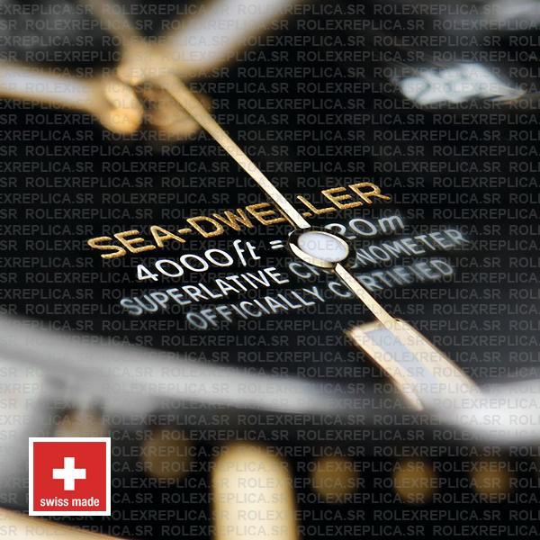 Rolex Sea-Dweller Deepsea Two Tone in 18k Yellow Gold 904L Stainless Steel Ceramic Bezel Rolex Replica Watch