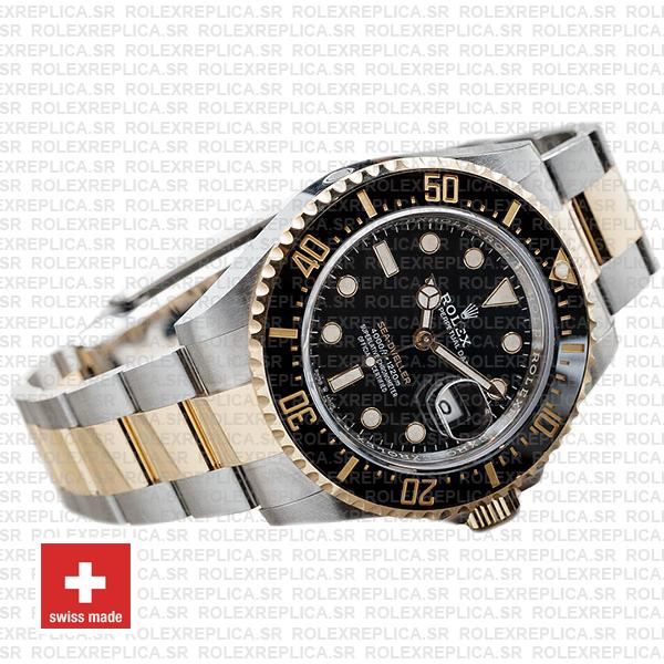 Rolex Sea-Dweller Deepsea Two Tone in 18k Yellow Gold 904L Stainless Steel Ceramic Bezel Watch