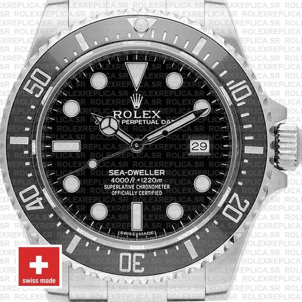 Rolex Sea Dweller Ceramic 4000 Ss 116600 40mm Swiss Replica