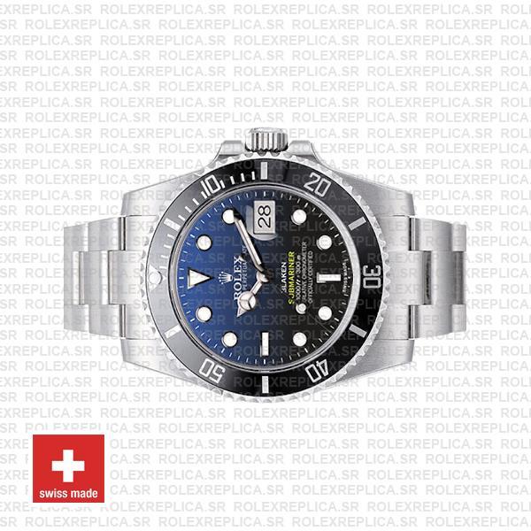 Rolex Submariner Blaken D-Blue Dial 904L Steel with Black Ceramic Bezel Rolex Replica