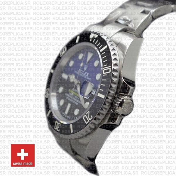 Rolex Submariner Blaken D-Blue Dial 904L Steel Watch