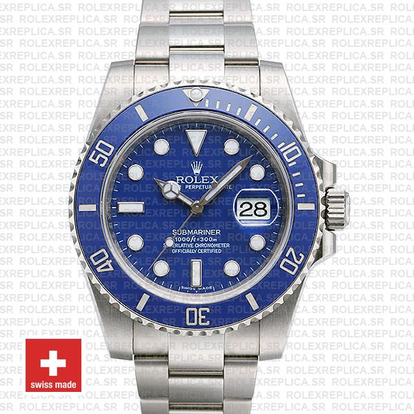 Rolex Submariner White Gold Blue Dial 40mm | Replica WatchRolex Submariner White Gold Blue Dial 40mm | Replica Watch