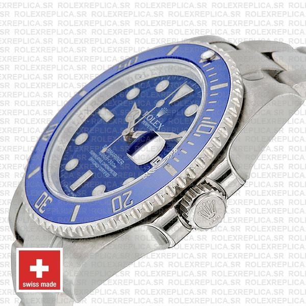 Rolex Submariner White Gold Blue Dial