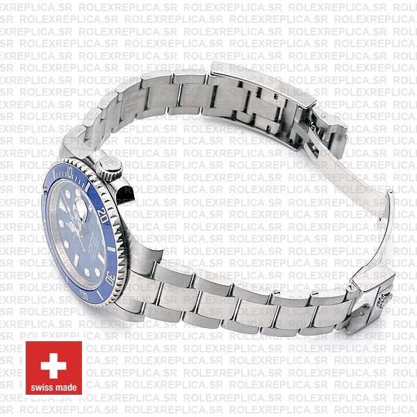 Rolex Submariner White Gold Blue Dial 40mm Swiss Replica Watch