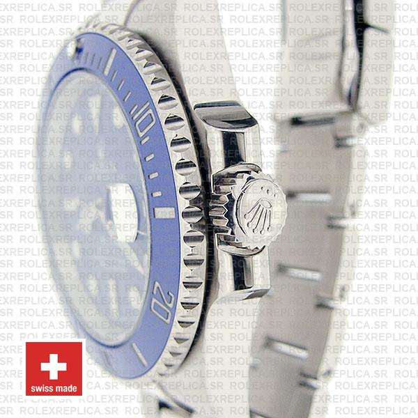 Rolex Submariner 18k White Gold Stainless Steel Blue Dial