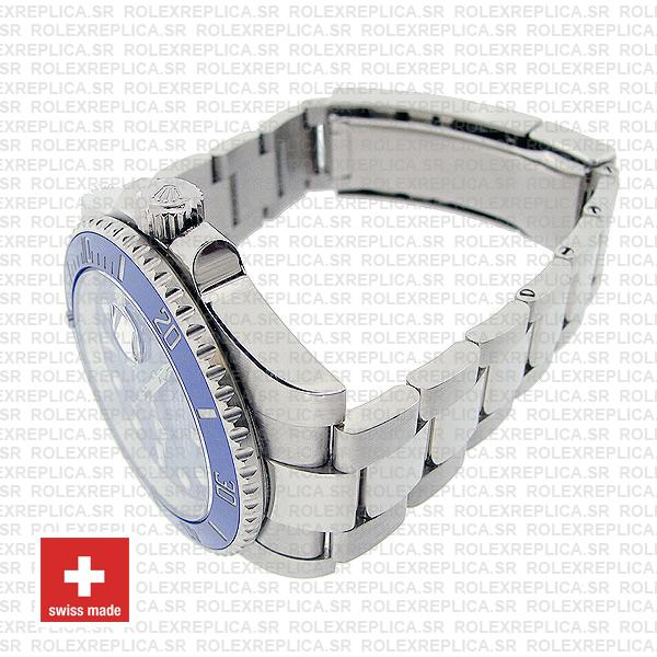 Rolex Submariner 18k White Gold Stainless Steel Blue Dial 40mm