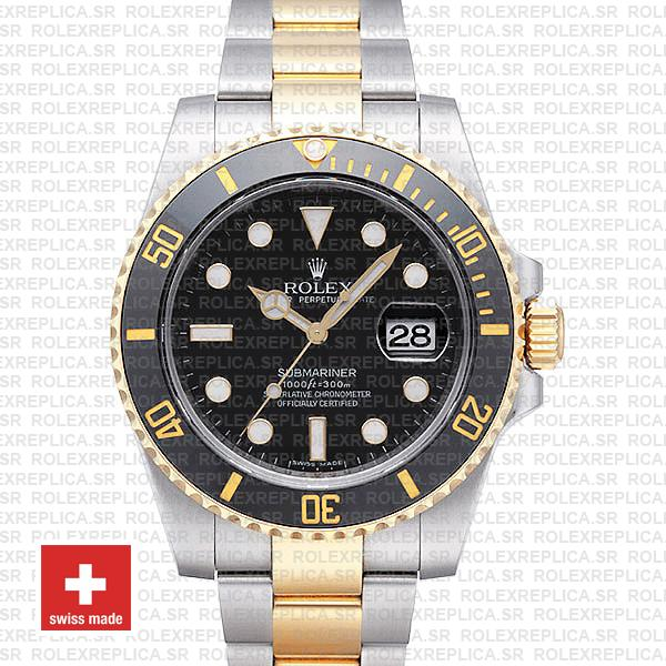 Rolex Submariner 2 Tone Black Ceramic 40mm 116613