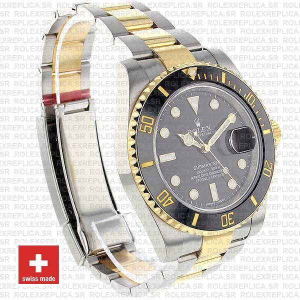 Rolex Submariner 2 Tone Black Dial Replica Watch