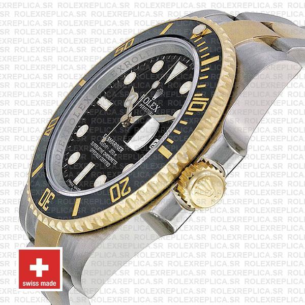 Rolex Submariner 2 Tone Black Dial Replica