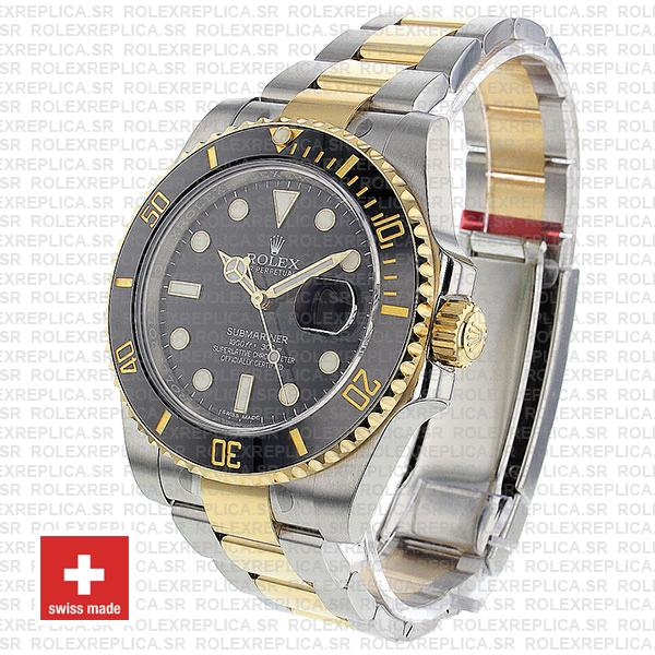 Rolex Oyster Perpetual Submariner 18K Yellow Gold 2 Tone 904L Steel