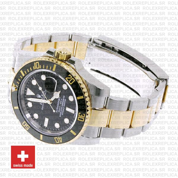 Rolex Oyster Perpetual Submariner 18K Yellow Gold 2 Tone 904L Steel Oyster Bracelet 40mm Replica
