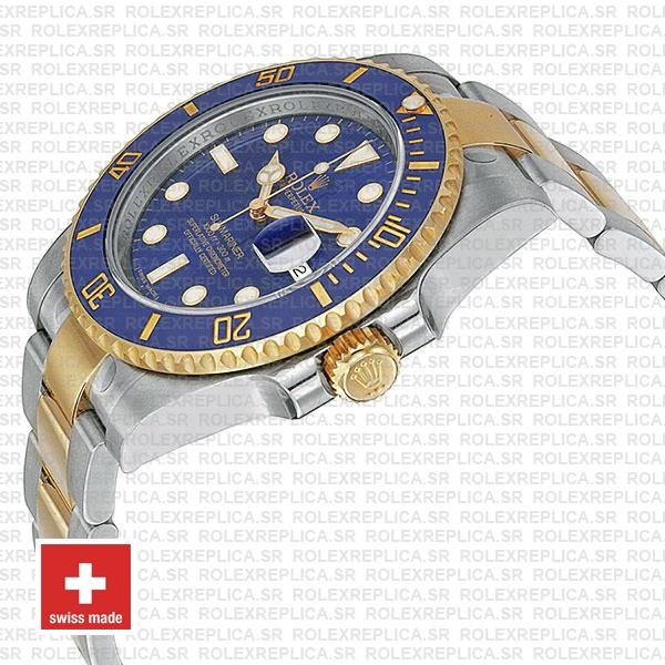 Rolex Submariner 2 Tone 18k Yellow Gold Blue Dial