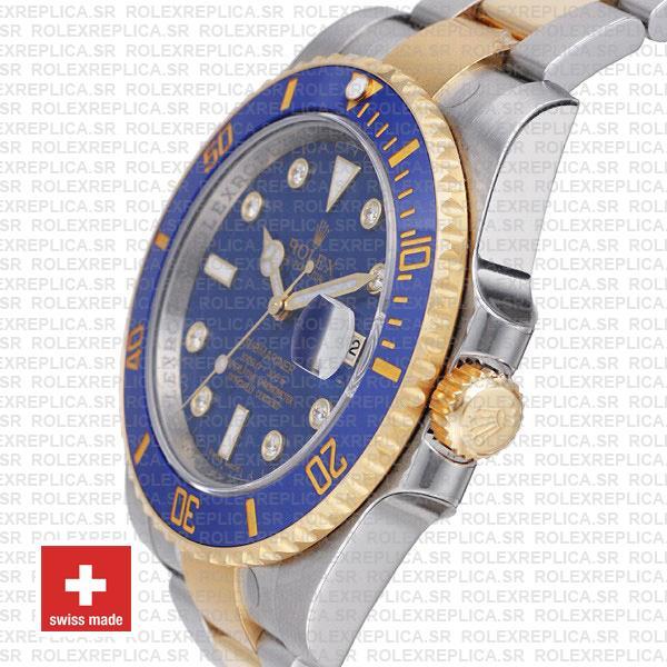 Rolex Submariner Yellow Gold 2 Tone Blue Dial Replica