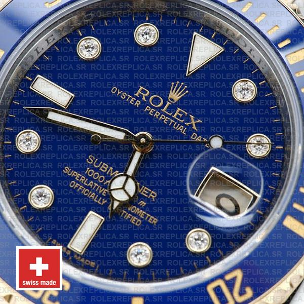 Rolex Submariner Yellow Gold 2 Tone Blue Dial 40mm