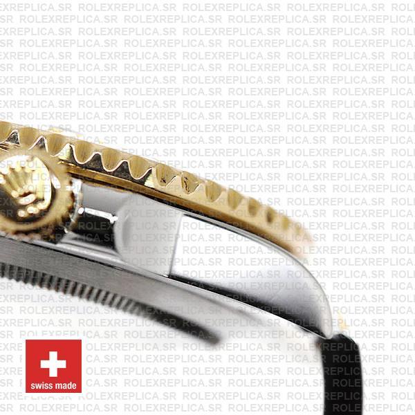 olex Submariner 2 Tone 18k Yellow Gold Blue Dial 40mm