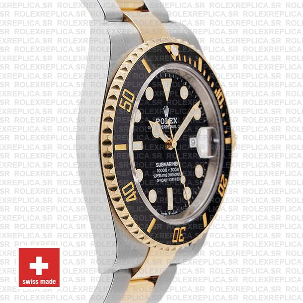 Rolex Oyster Perpetual Submariner 2 Tone 904L Steel Black Dial