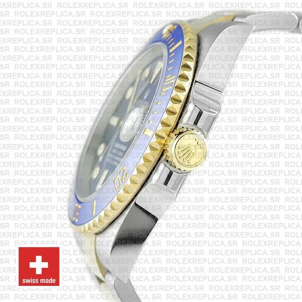Rolex Submariner 2 Tone 18K Yellow Gold Wrap Blue Dial Rolex Replica Watch