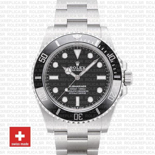 Rolex Submariner 41mm No Date Black Dial Replica Watch