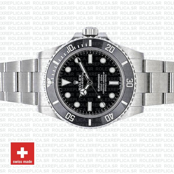 olex Submariner 904L Stainless Steel No Date Black Dial