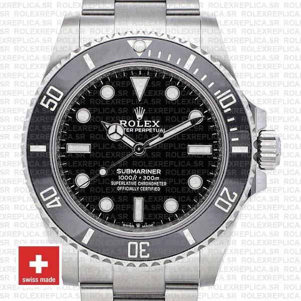 olex Submariner 904L Stainless Steel No Date Black Dial Ceramic Bezel