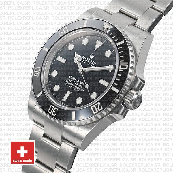 olex Submariner 904L Stainless Steel No Date Black Dial 124060