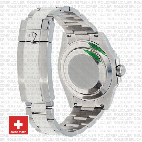 Rolex Submariner 41mm 904l Steel 18k White Gold Wrap Black Dial Blue Ceramic Bezel