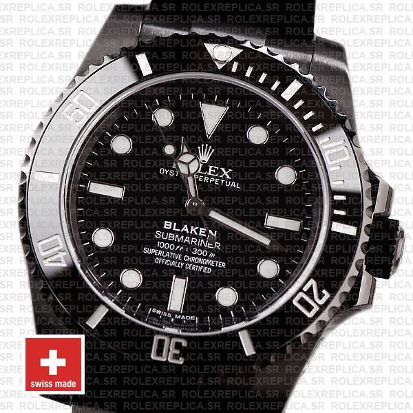Rolex Submariner Blaken Black Dial 40mm Rolex Replica