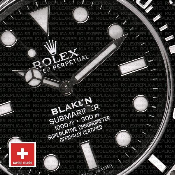 Rolex Submariner Blaken Black Dial DLC Black Ceramic Bezel 40mm