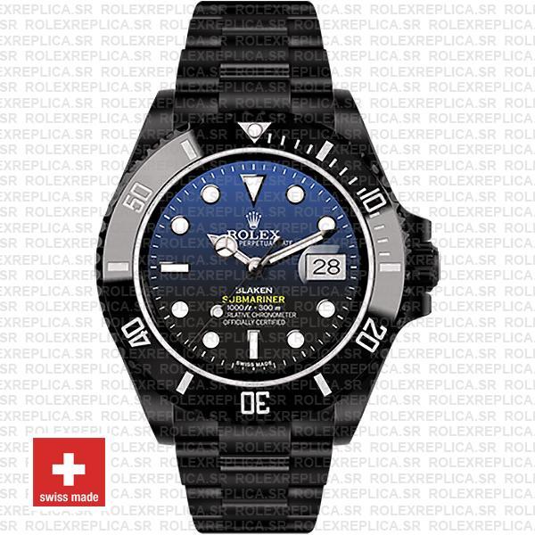 Rolex Submariner Blaken D-Blue Dial | Rolex Replica Watch