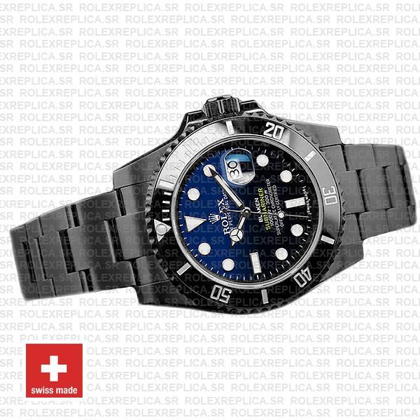 Rolex Submariner Blaken D-Blue Dial Swiss Replica Watch
