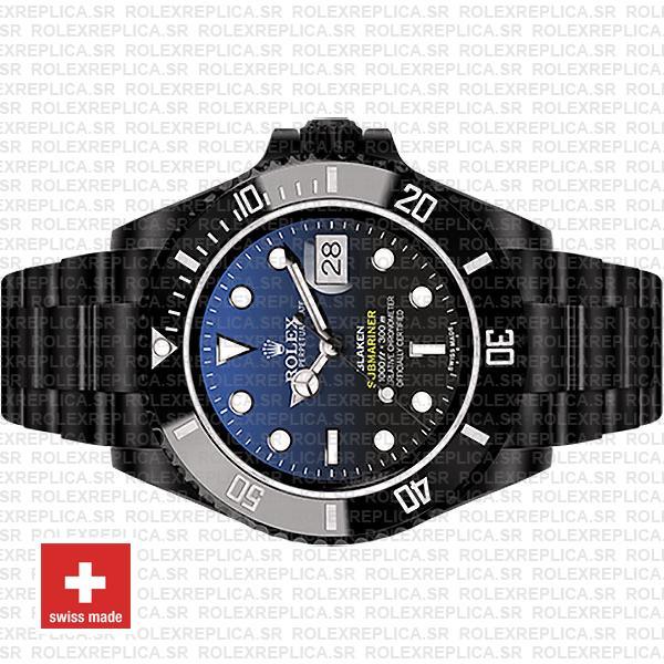Rolex Submariner Blaken D-Blue Dial Black Ceramic Bezel 40mm