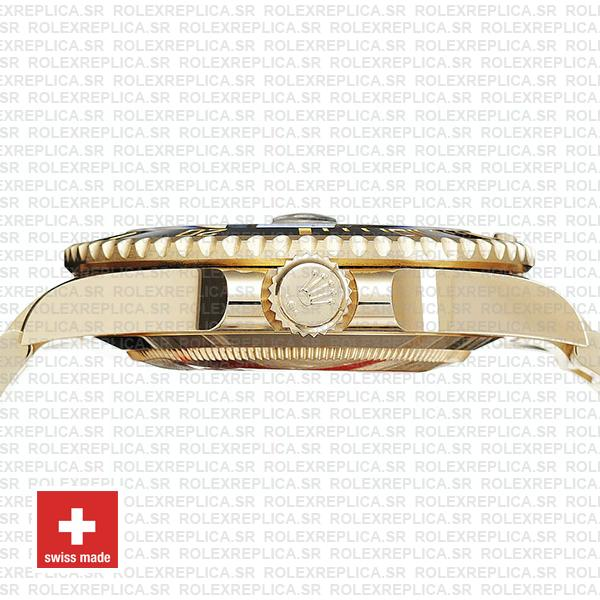 Rolex Submariner 41mm 18k Yellow Gold Wrap 904l Steel Black Dial Ceramic Bezel 126618ln Swiss Replica Watch