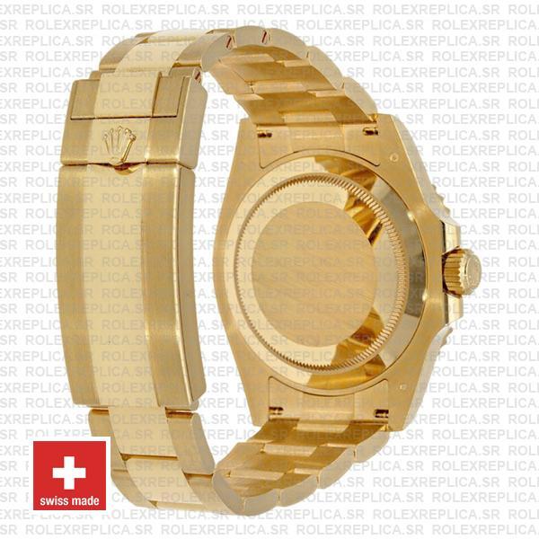 Rolex Submariner Gold Blue Ceramic 904L Steel Oyster Bracelet
