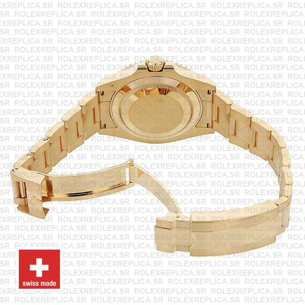Rolex Submariner Gold Blue Ceramic 904L Steel Oyster Bracelet 41mm