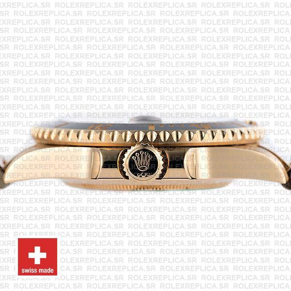 Rolex Submariner 18k Yellow Gold Date Watch 40mm
