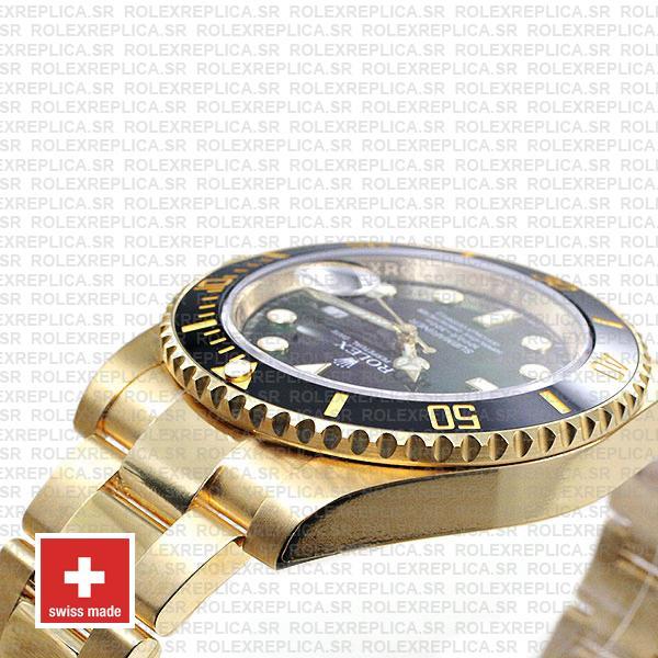Rolex Submariner Black Dial 18k Yellow Gold