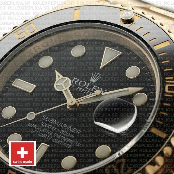 Rolex Submariner Black Dial 18k Yellow Gold 40mm