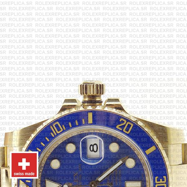 Rolex Submariner Gold Blue Ceramic 40mm 116618