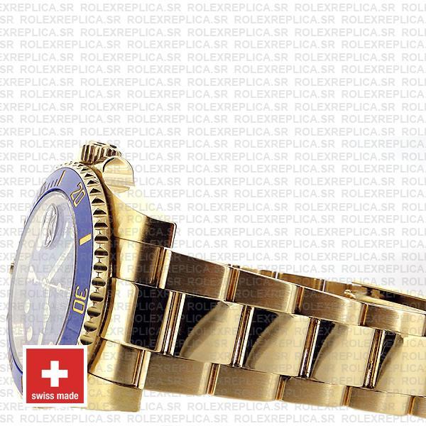 Rolex Submariner 18k Gold Blue Dial Replica