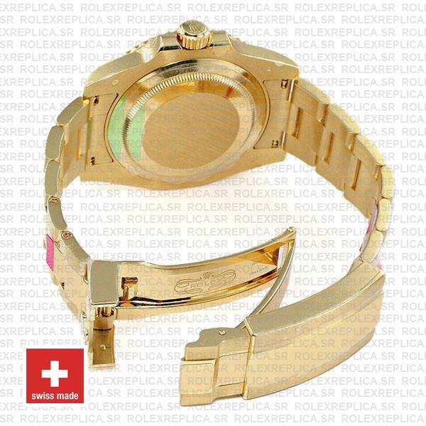Oyster Perpetual Rolex Submariner 18k Yellow Gold Blue Ceramic Bezel Replica Watch