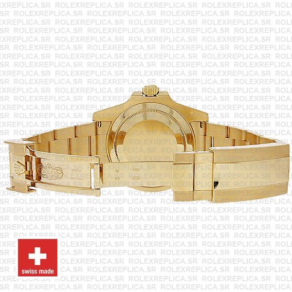 Rolex Submariner 18k Gold Blue Dial 40mm Oyster Bracelet Watch