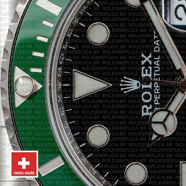 Rolex Submariner Kermit 41mm Green Ceramic Bezel 904l Steel 126610lv Swiss Replica