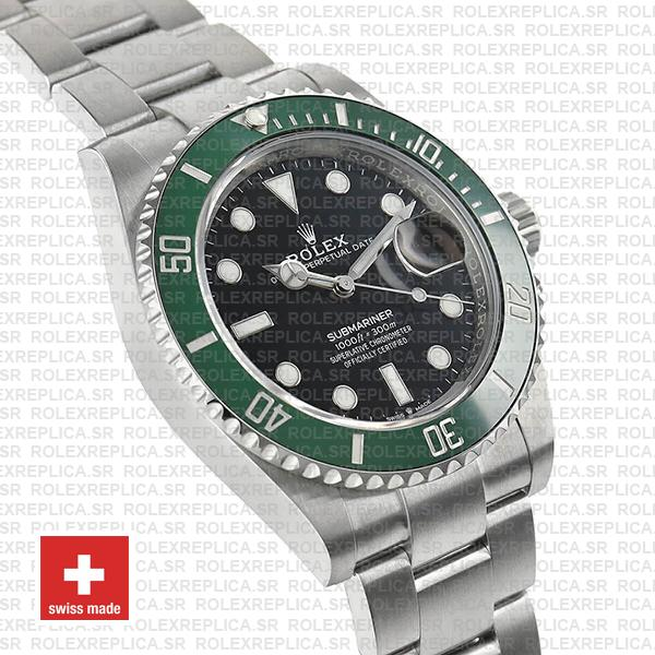 Rolex Submariner Green Ceramic Bezel Black Dial 41mm Replica Watch