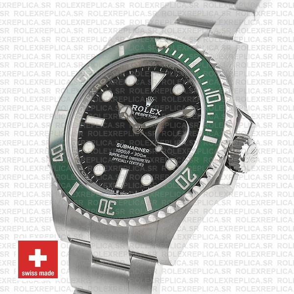 Rolex Submariner Green Ceramic Bezel Black Dial 41mm Rolex Replica Watch